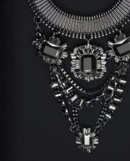 Black Temptation Layered Statement Necklace – 1