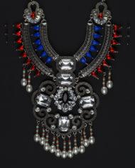 Bringin Aztec Back Statement Necklace In Silver – 1
