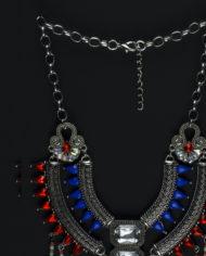 Bringin Aztec Back Statement Necklace In Silver – 2