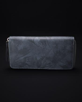 Cleo Faux Suede Wallet In Blue