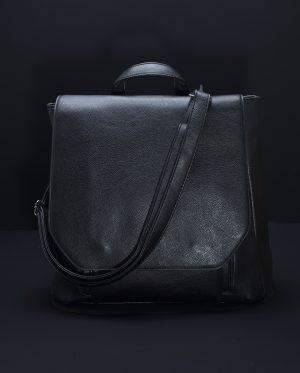 Eden Sleek Monochrome Backpack In Black - 1