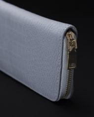 Prisma Faux Croc Skin Wallet In Grey – 1