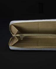 Prisma Faux Croc Skin Wallet In Grey – 2