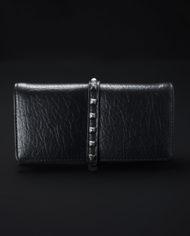 Taos Studded Metallic Wallet In Black – 1